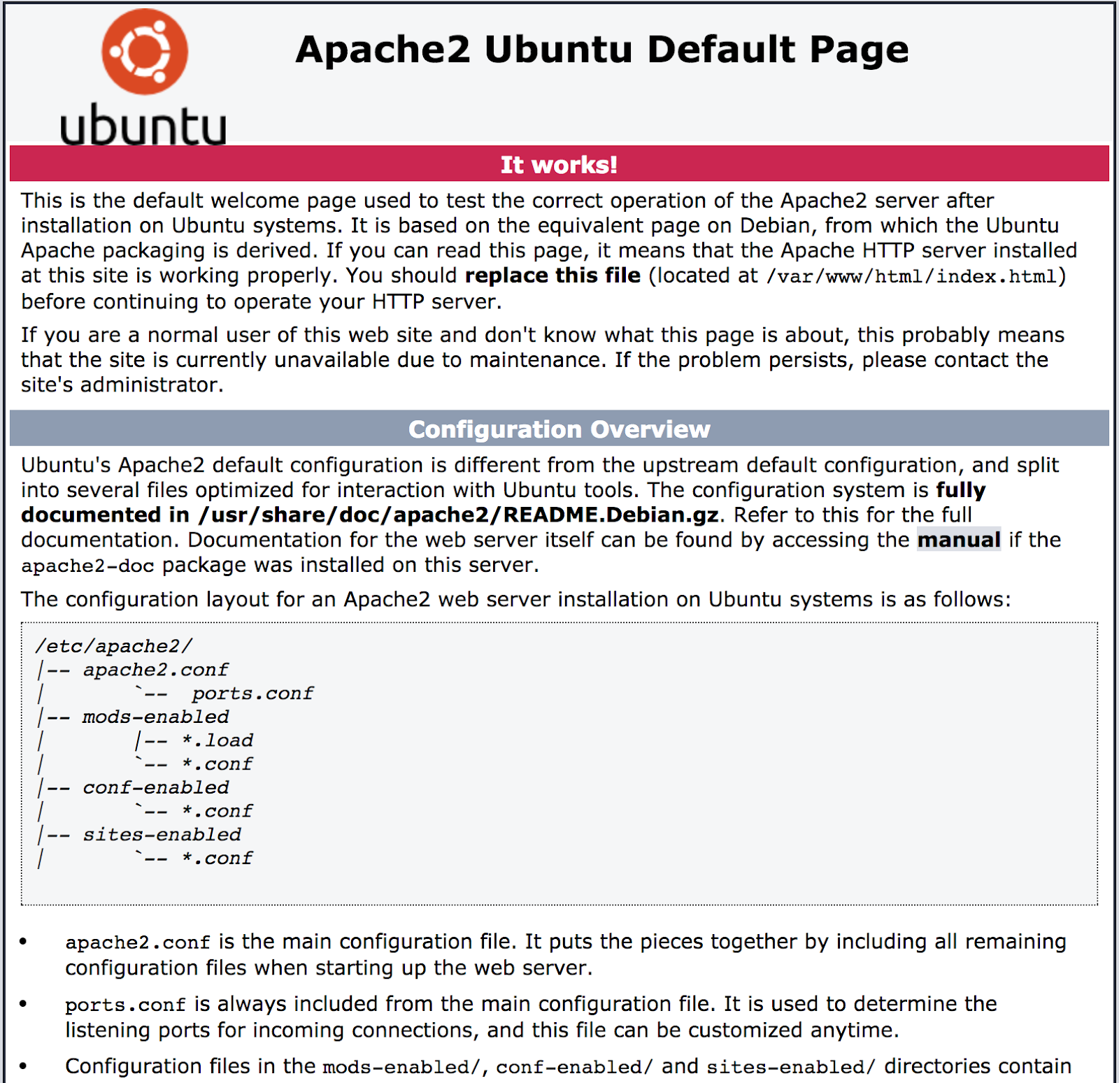 6 how apache default looks