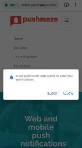 Push alerts service
