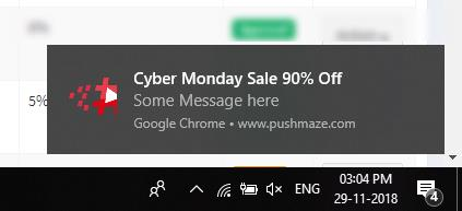 Chrome Push notifications