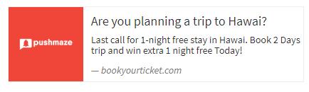 new offer alert