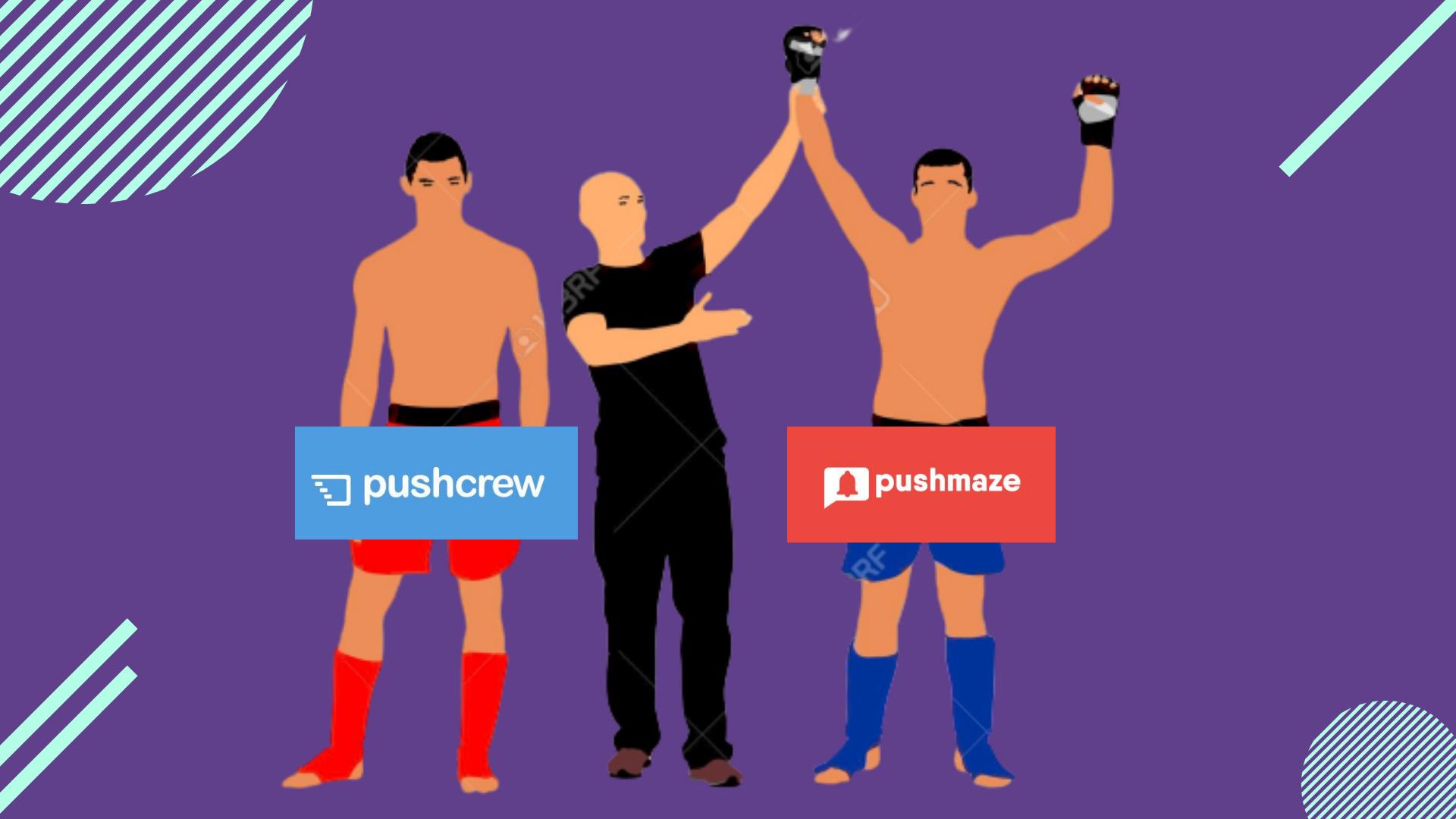 pushmaze comparison pushcrew