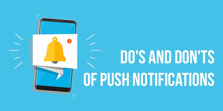Don'ts of push notifications